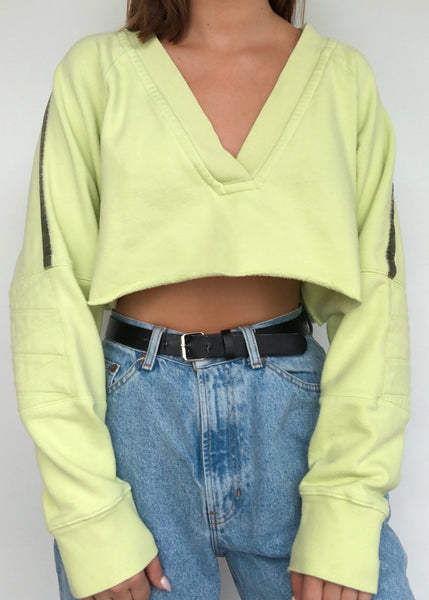Lime Stripe Pullover