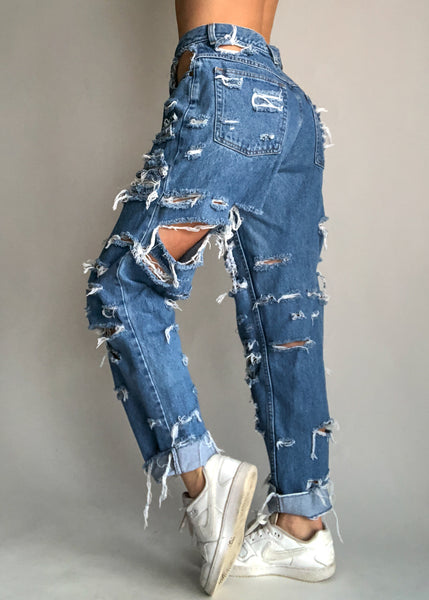Classic Blue Shred Jeans