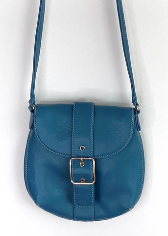 Aqua Buckle Side Bag
