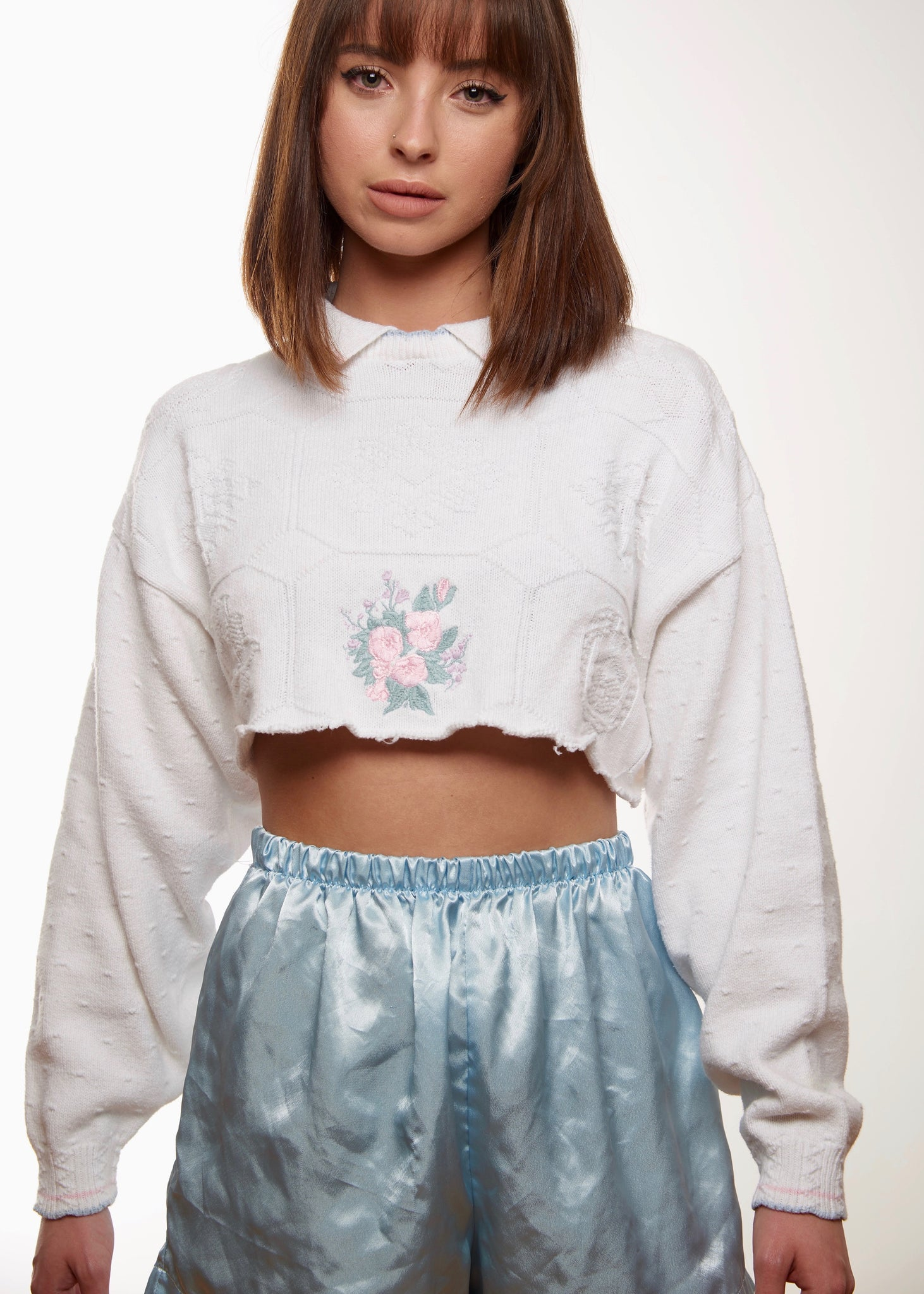 Granny Cropped Sweater