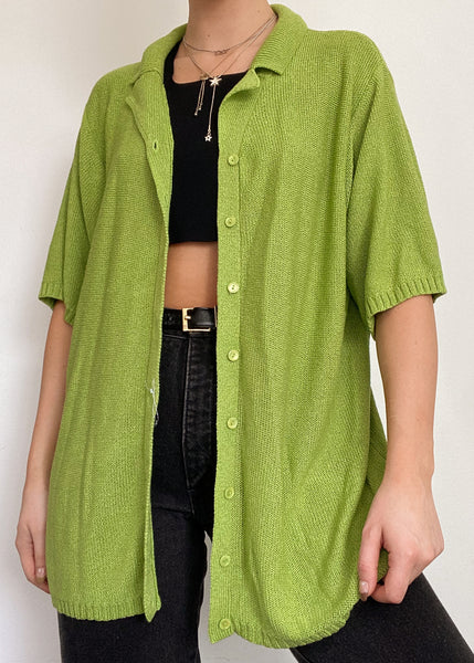 Agave Knit Button Up