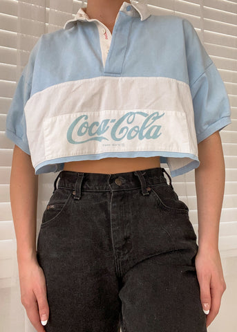 Baby Blue Coke Polo