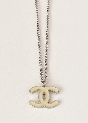 Chanel Logo Charm Necklace