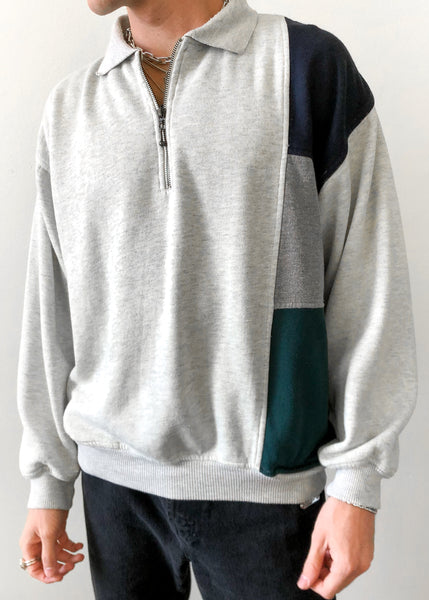 Colorblock Quarter Zip