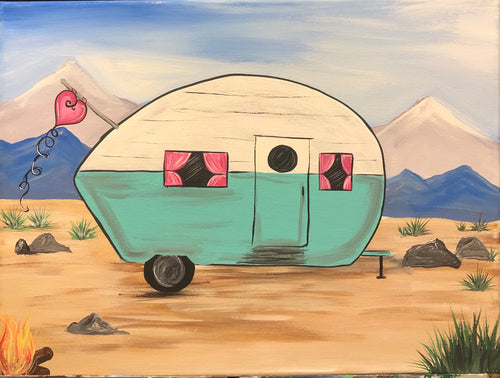 Classic Trendz is hosting 'Happy Camper' Paint Party July 14th, 11-2pm