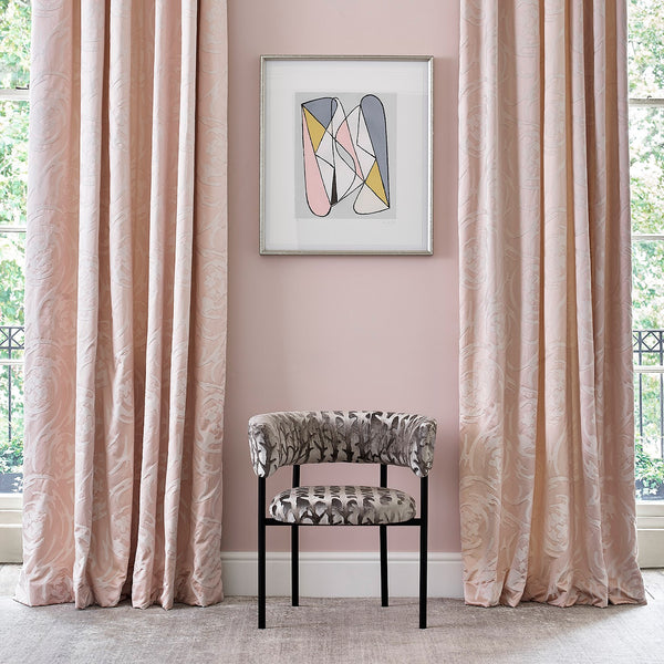Sitting room with luxurious silk curtains