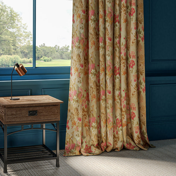 Curtain in a luxurious printed cotton velvet