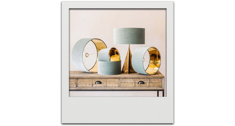 Velvet lampshades/Graham and Green/Linwood Blog