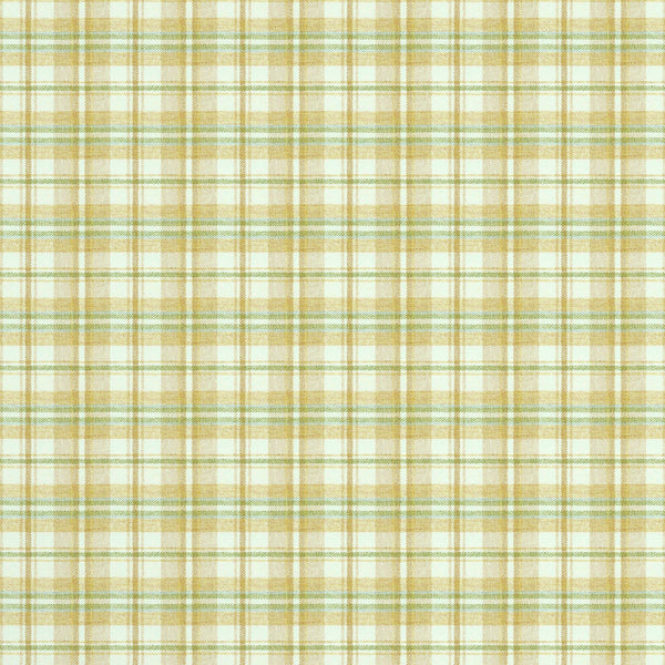 Fabric swatch of a luxury Scottish cream wool tartan fabric suitable for curtains and upholstery