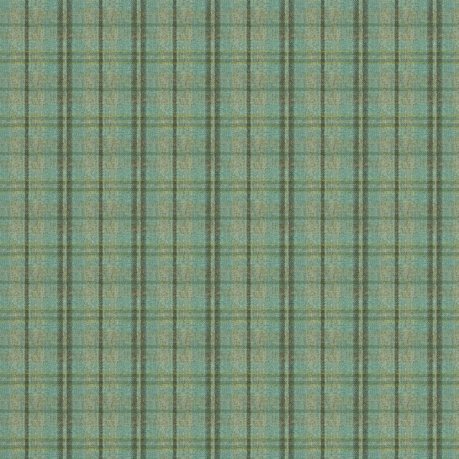 Fabric swatch of a luxury Scottish blue wool tartan fabric suitable for curtains and upholstery