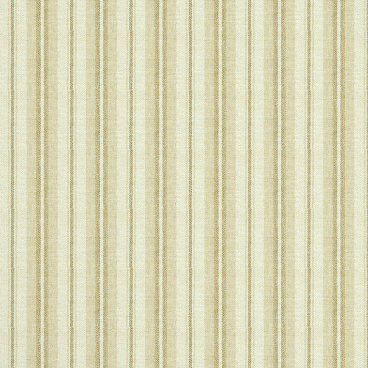 Fabric swatch of a luxury Scottish cream wool striped fabric suitable for curtains and upholstery