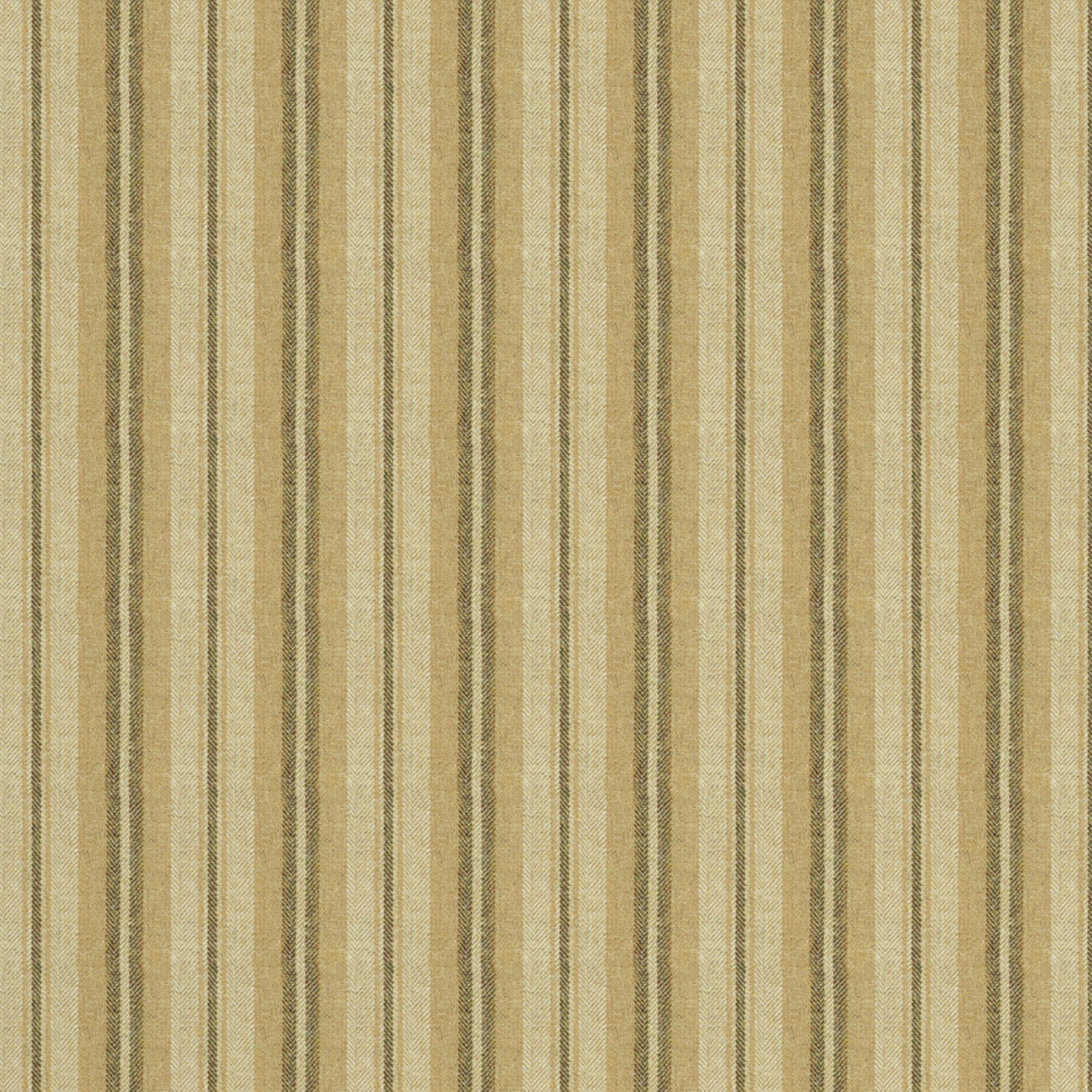 Fabric swatch of a luxury Scottish cream and beige wool striped fabric suitable for curtains and upholstery