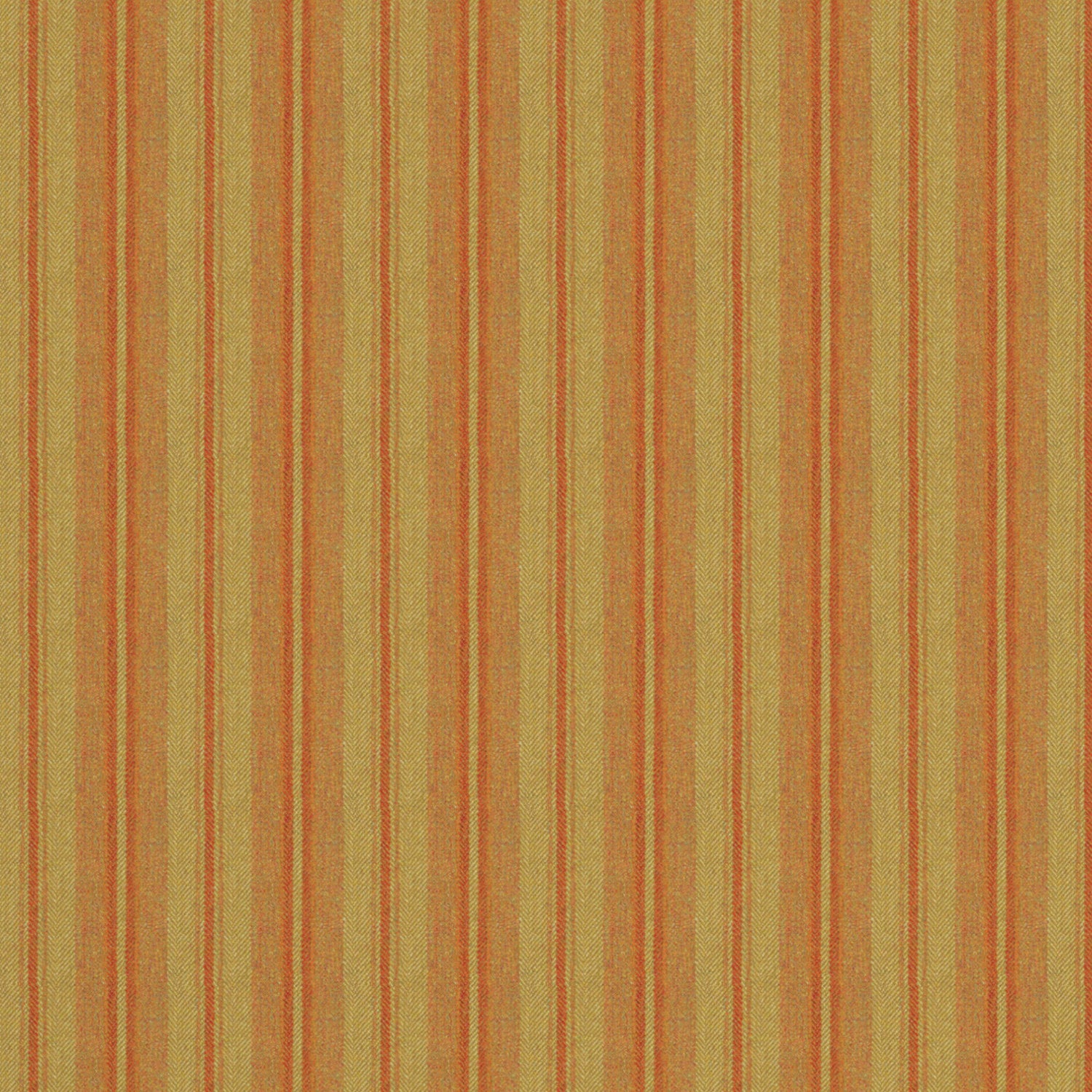 Fabric swatch of a luxury Scottish orange and dark neutral wool striped fabric suitable for curtains and upholstery