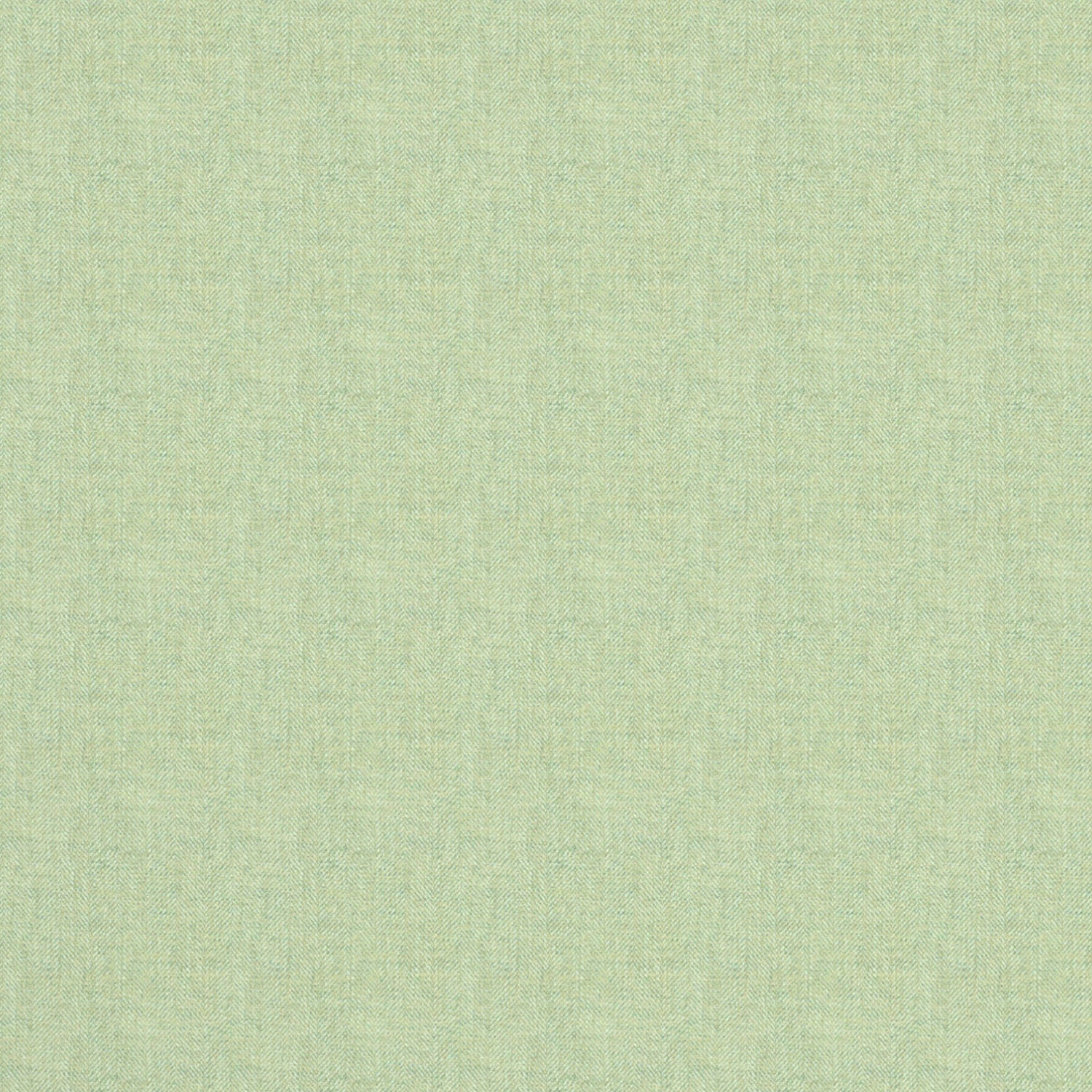 Fabric swatch of a mint Scottish wool herringbone fabric for curtains and upholstery