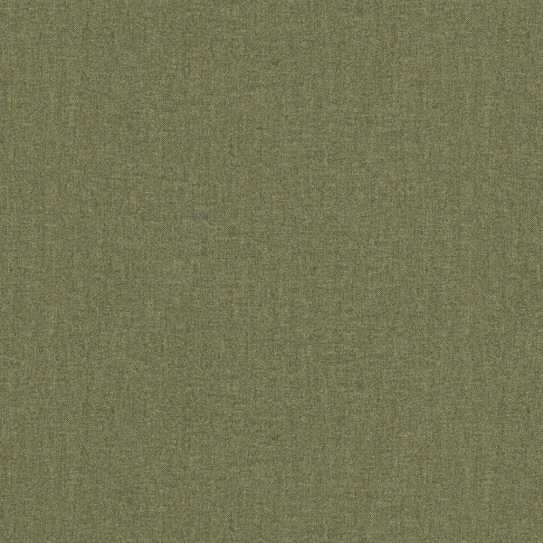 Fabric swatch of a dark green Scottish wool herringbone fabric for curtains and upholstery