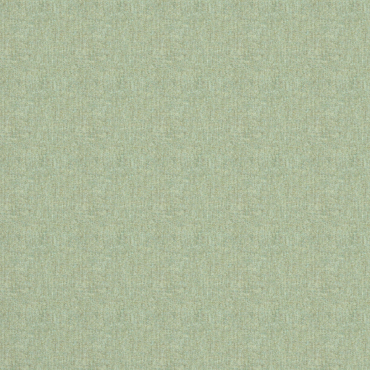 Fabric swatch of a light green Scottish wool herringbone fabric for curtains and upholstery