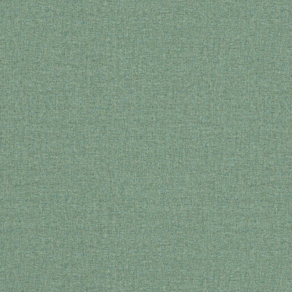 Fabric swatch of a turquoise Scottish wool herringbone fabric for curtains and upholstery