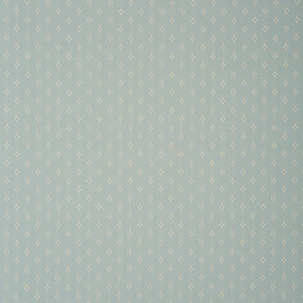 Fabric swatch of a light blue fabric with small design for curtains and upholstery with a stain resistant finish