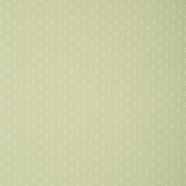 Fabric swatch of a light green fabric with small design for curtains and upholstery with a stain resistant finish