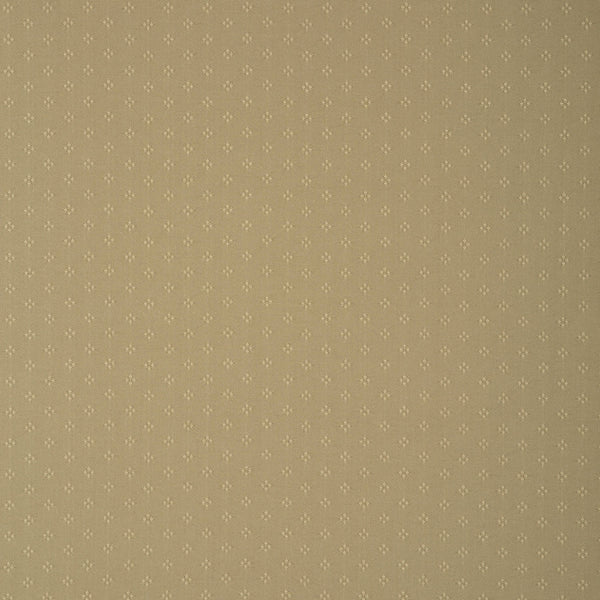 Fabric swatch of a khaki fabric with small design for curtains and upholstery with a stain resistant finish