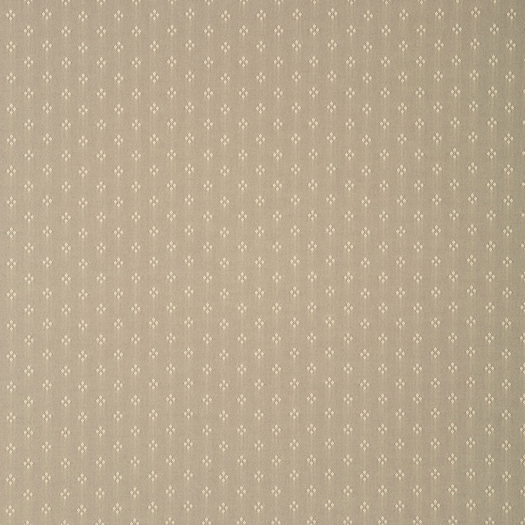 Fabric swatch of a brown fabric with small design for curtains and upholstery with a stain resistant finish