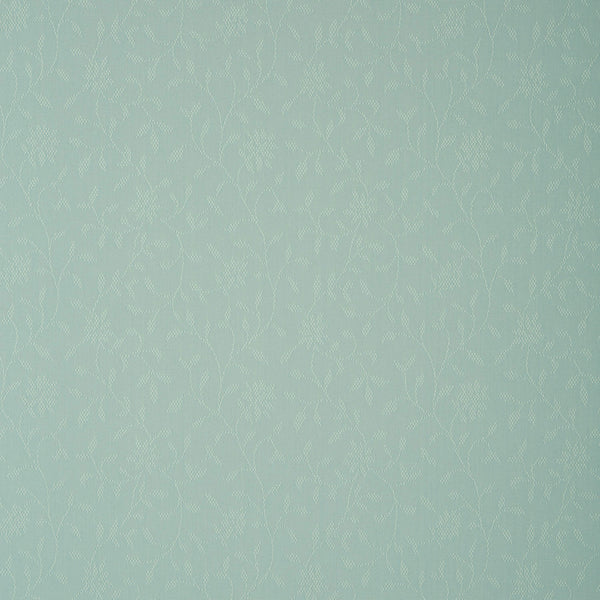 Fabric swatch of a blue fabric with floral design for curtains and upholstery with a stain resistant finish