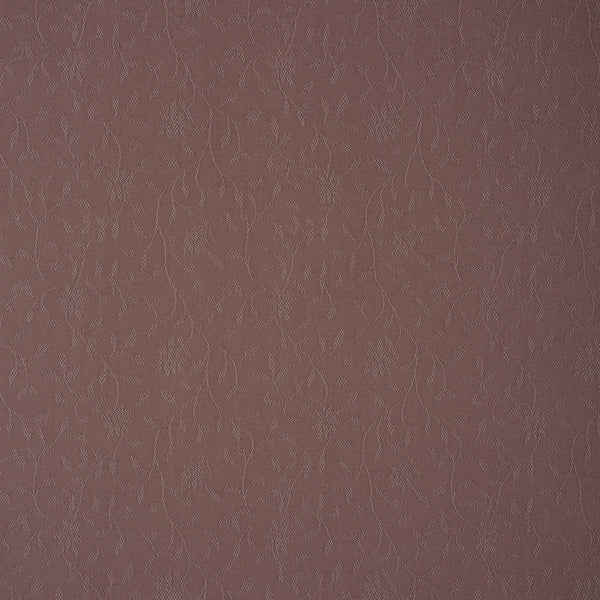 Fabric swatch of a purple fabric with floral design for curtains and upholstery with a stain resistant finish