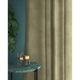 Natural coloured velvet curtains with a stain resistant finish