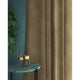 Curtains in a coffee coloured plain velvet fabric with a stain resist finish