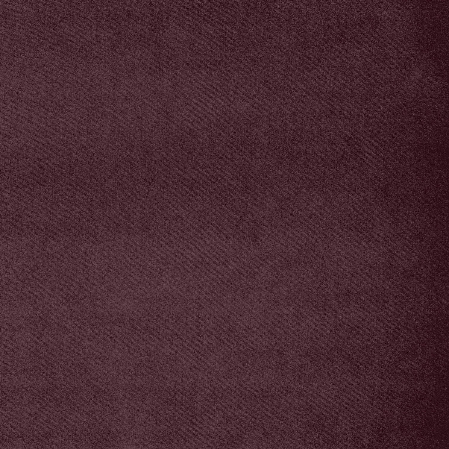Fabric swatch of a dark purple velvet fabric for curtains and upholstery with a stain resistant finish