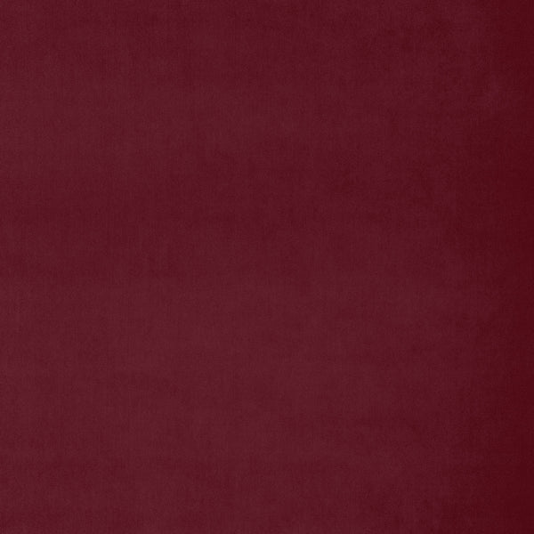 Fabric swatch of a berry red luxury plain velvet fabric for curtains and upholstery