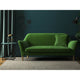 Sofa in a luxury green velvet upholstery fabric for contract and domestic use