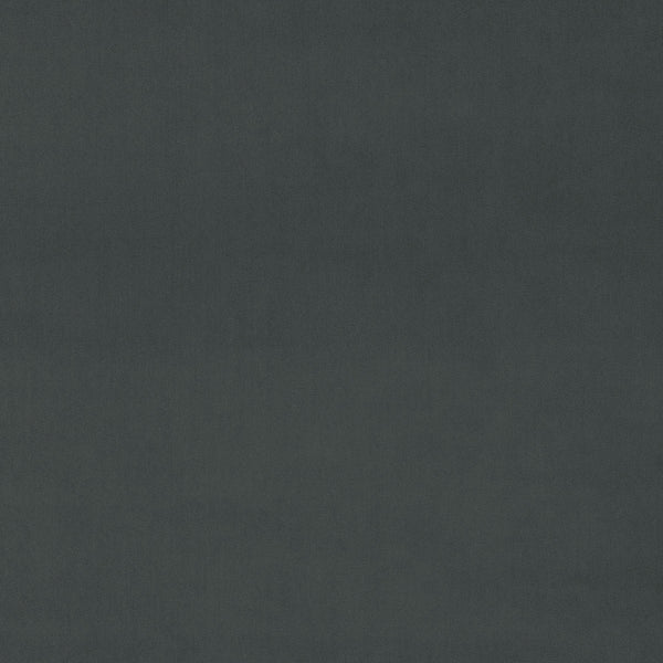 Dark grey plain luxury velvet fabric for curtains and upholstery with a stain resistant finish