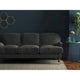 Sofa in a dark grey plain velvet upholstery fabric with a stain resistant finish