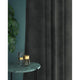 Curtain in a luxury plain grey velvet fabric with a stain resistant finish