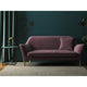 Mauve velvet sofa with a stain resistant finish