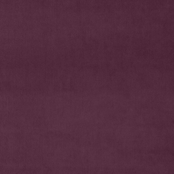 Luxury plain purple velvet fabric for curtains and upholstery with a stain resistant finish