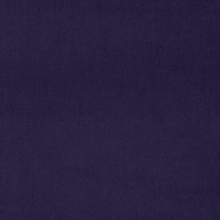Plain royal purple velvet fabric for upholstery and curtains with a stain resistant finish
