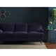 Sofa in a royal purple upholstery velvet for contract and domestic use