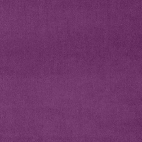 Bright purple plain velvet fabric for upholstery and curtains with a stain resistant finish