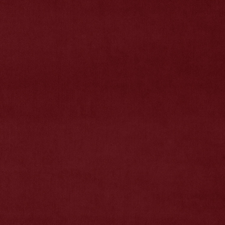 Luxury plain crimson red velvet fabric for curtains and upholstery with a stain resistant finish