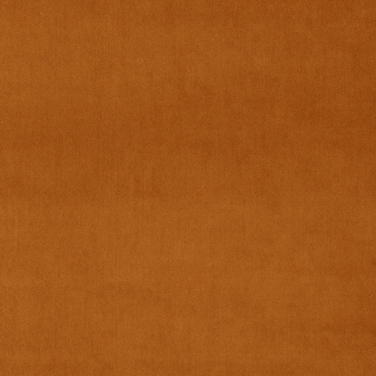 Plain burnt orange velvet fabric for curtains and upholstery with a stain resistant finish
