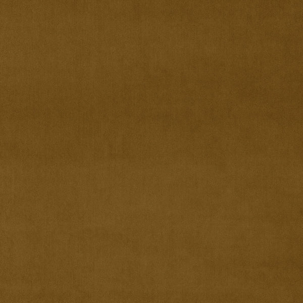 Plain cognac brown velvet fabric for curtains and upholstery with a stain resistant finish