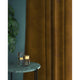 Brown velvet curtains with a stain resistant finish