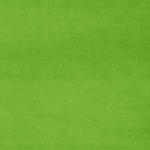 Apple green velvet fabric for curtains and upholstery with a stain resistant finish
