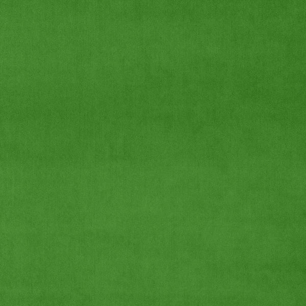 Bright green velvet fabric for curtains and upholstery with a stain resistant finish
