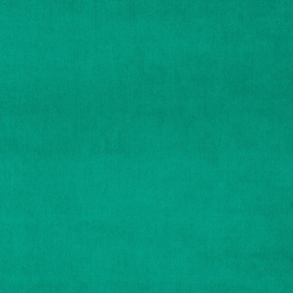 Bright turquoise velvet fabric for curtains and upholstery with a stain resistant finish