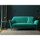 Sofa in a turquoise upholstery velvet fabric with a stain resistant finish