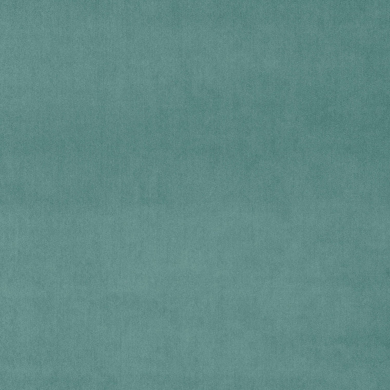 Blue velvet fabric for curtains and upholstery with a stain resistant finish
