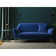 Royal Blue velvet sofa with a stain resistant finish